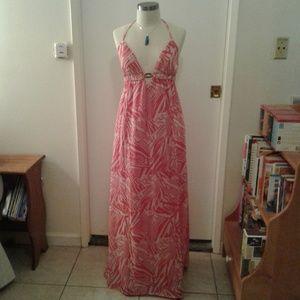 EUC Guess Maxi Halter dress Size M